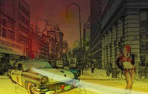 a night scene at 14th n 26th by illusionedpixels