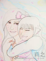 Mimi and Hime. by lizjowen