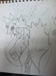 Rough sketch of Mega Lucario