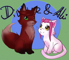 Divine x Aki - Fox and Kitten by KarniMolly