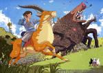 Ashitaka Versus The Demon Boar