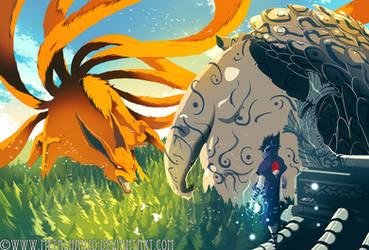 Naruto-NineTails VS. Shukaku by HeavyMetalHanzo