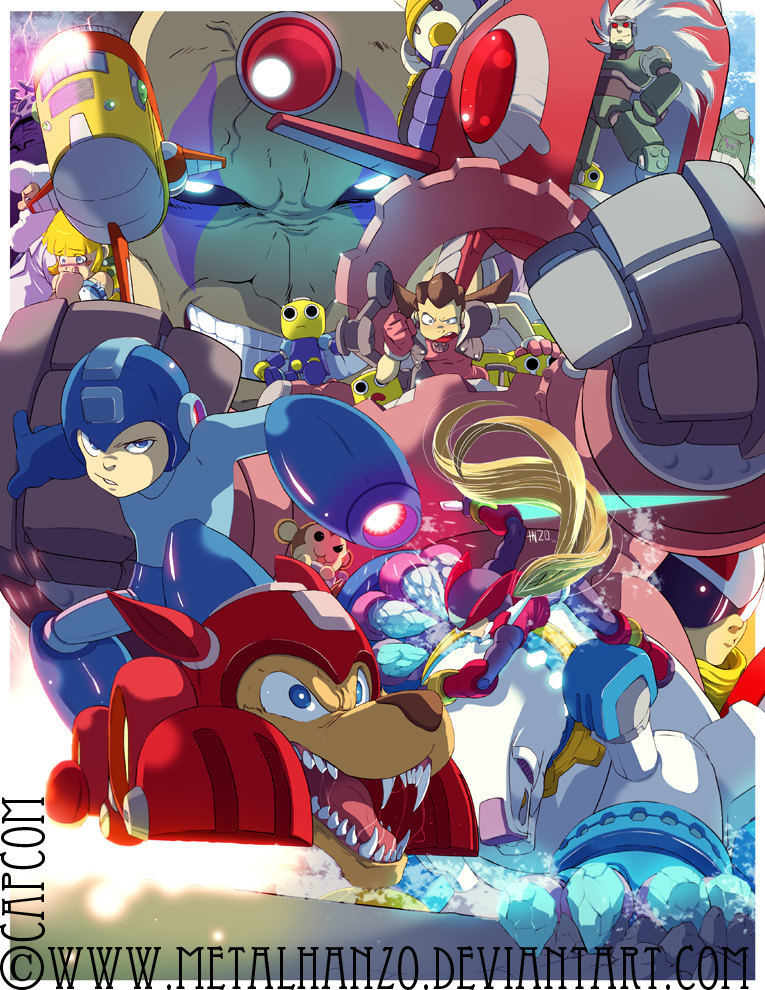 Megaman Tribute by HeavyMetalHanzo