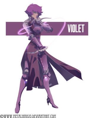 Neon Manga -Violet- by HeavyMetalHanzo
