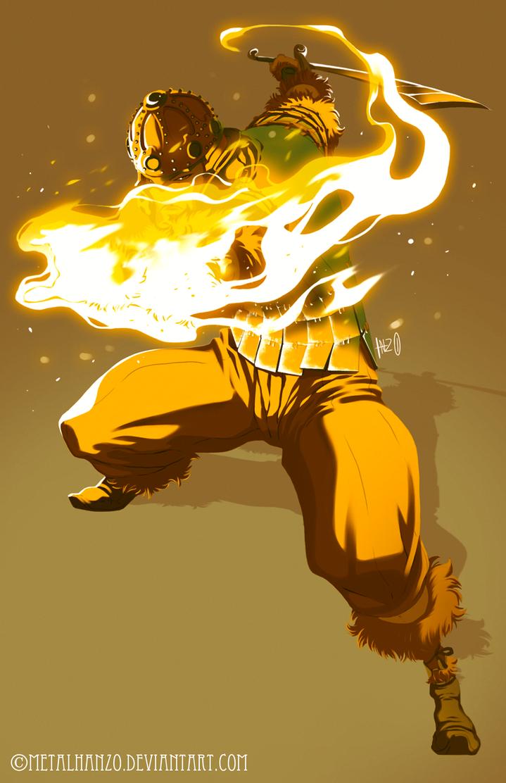 The Fiery Warrior by HeavyMetalHanzo