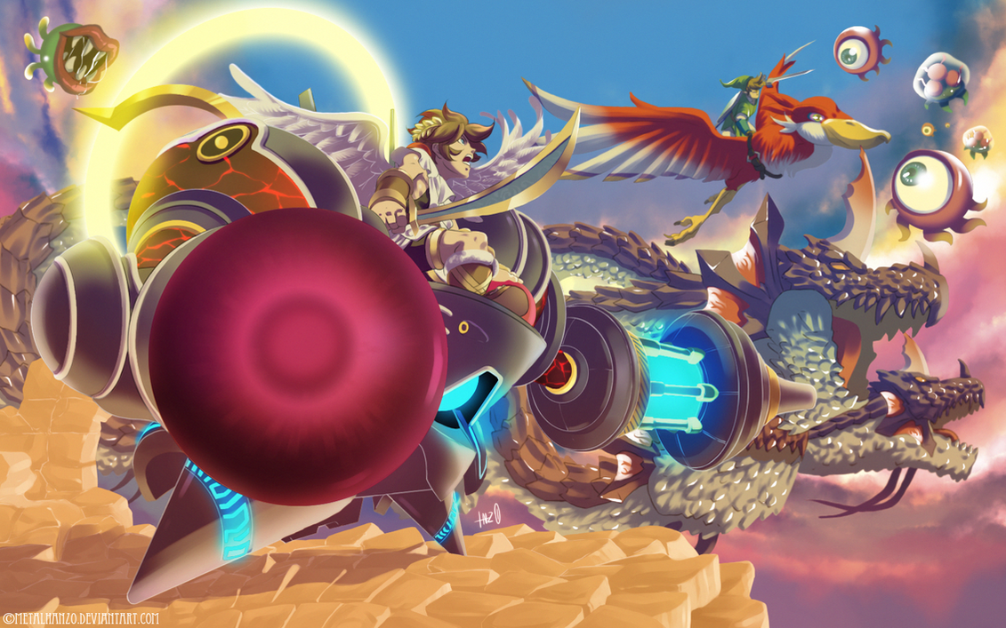 Kid Icarus Uprising Cherubot Activated By HeavyMetalHanzo