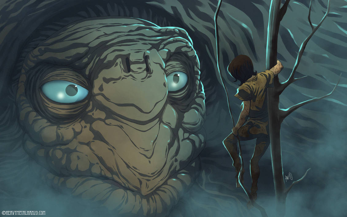 The Neverending Story-Atreyu finds Morla by HeavyMetalHanzo