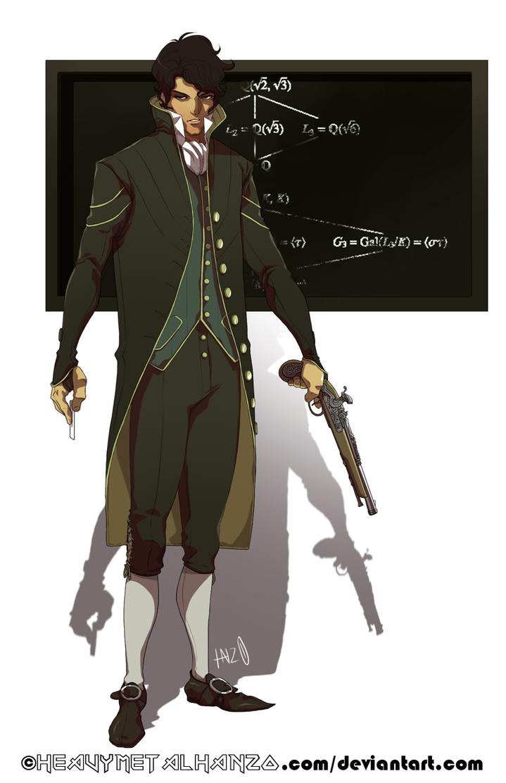 Evariste Galois by HeavyMetalHanzo