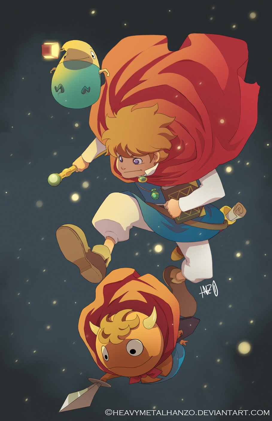 Ni No Kuni-Oliver and Friends by HeavyMetalHanzo