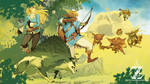 Breath Of The Wild-Fighting the Bokoblin