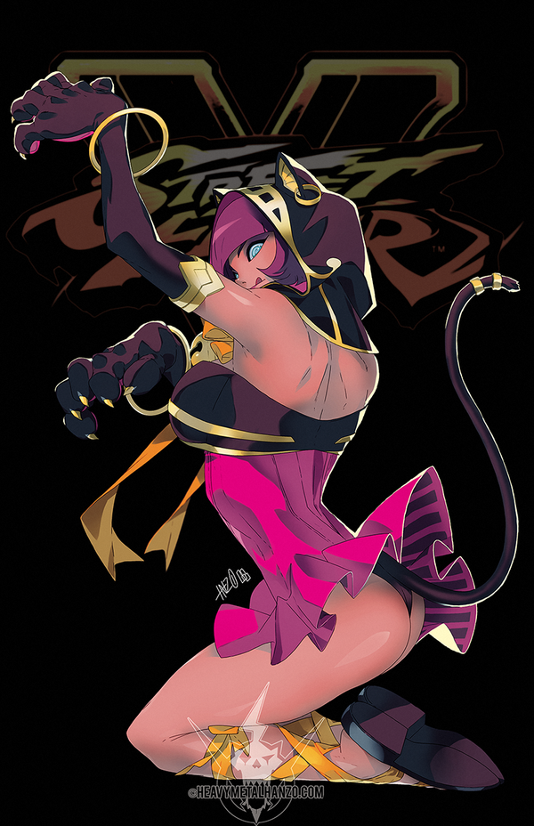 Street Fighter V- Cat Menat by HeavyMetalHanzo