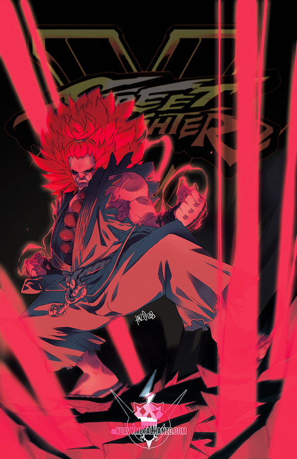 Street Fighter V- Akuma by HeavyMetalHanzo