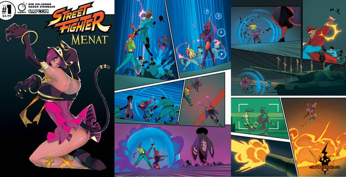 Street Fighter Menat #1 Preview 2 by HeavyMetalHanzo