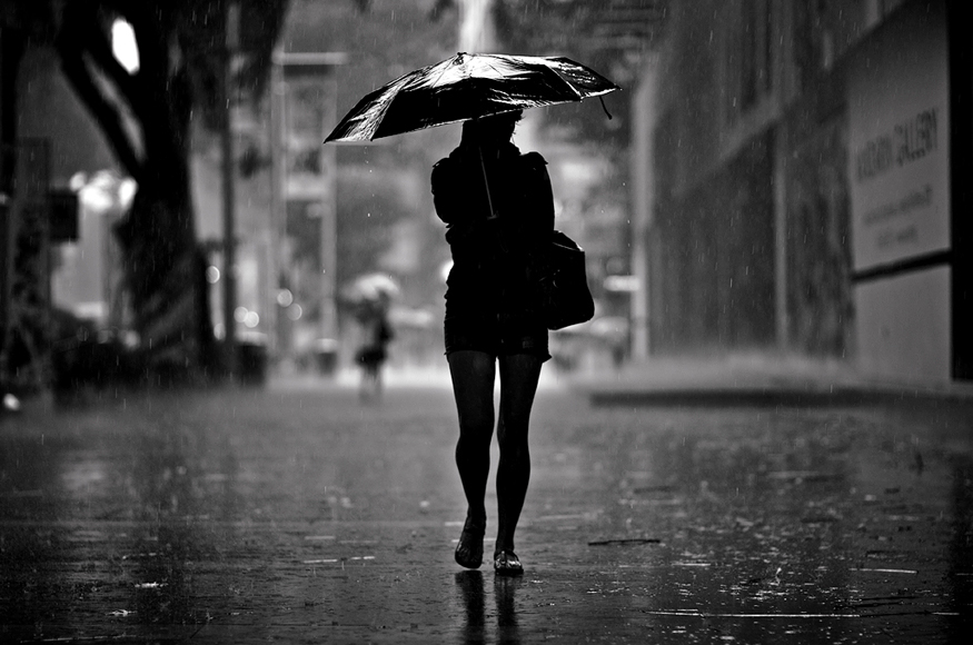 Silhouette in the Rain by dannyst