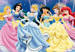 Disney Princesses - Sparkle Dresses