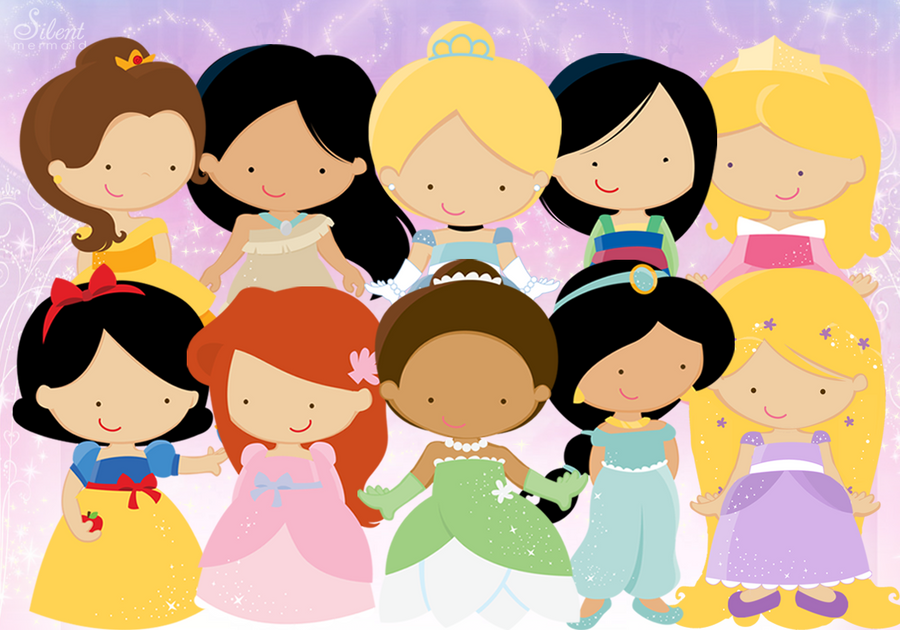 Disney princesses cute by silentmermaid21