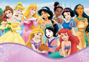 Disney Princesses - Sweet Hearts by SilentMermaid21