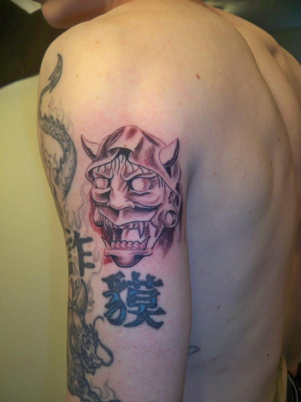hannya mask tattoo by cxsr9 on deviantart. Black Bedroom Furniture Sets. Home Design Ideas