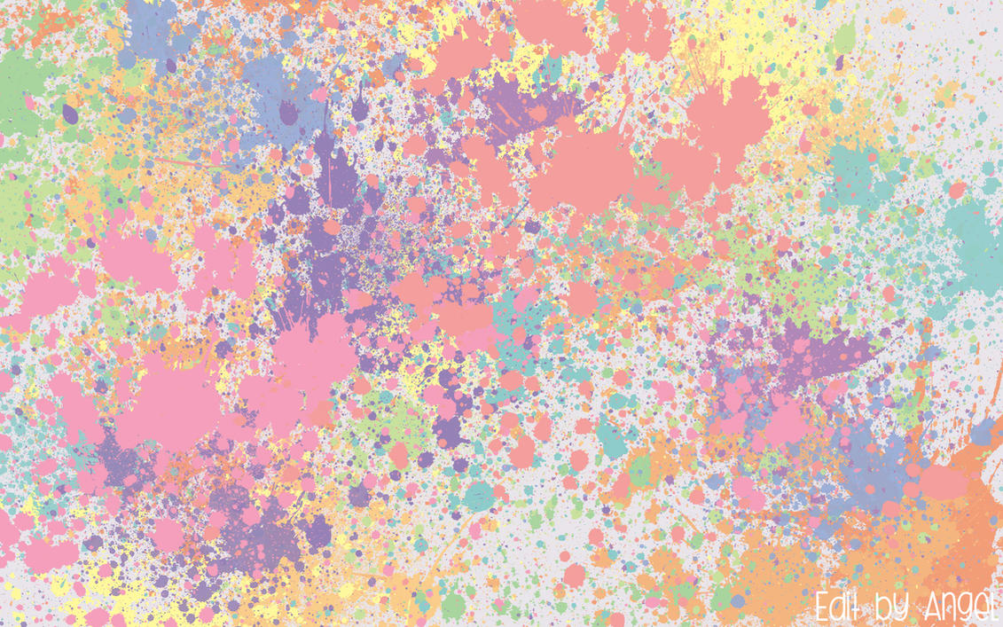 Perfect Pastel Splat Wallpaper By With Paint Splatter