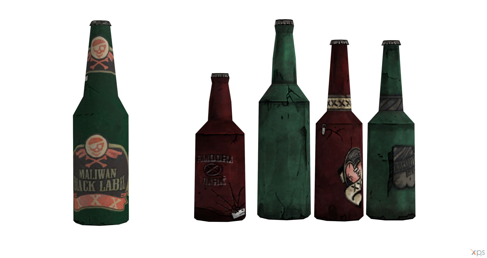 Borderlands 2 Xnalara model: Beer and Beer set by branch-san