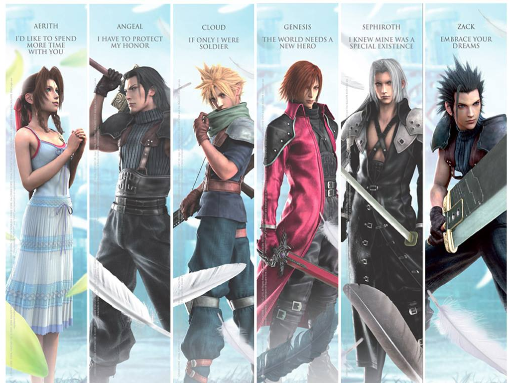 Final Fantasy 7 Anime Characters : Crisis core quotes desktop wallpaper by lord zachael on