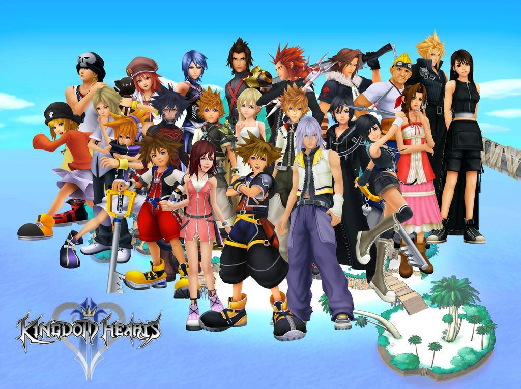 Kingdom Hearts Character Collage / Desktop Wallpap