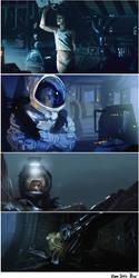 Alien Studies Speedpaints by bradwright