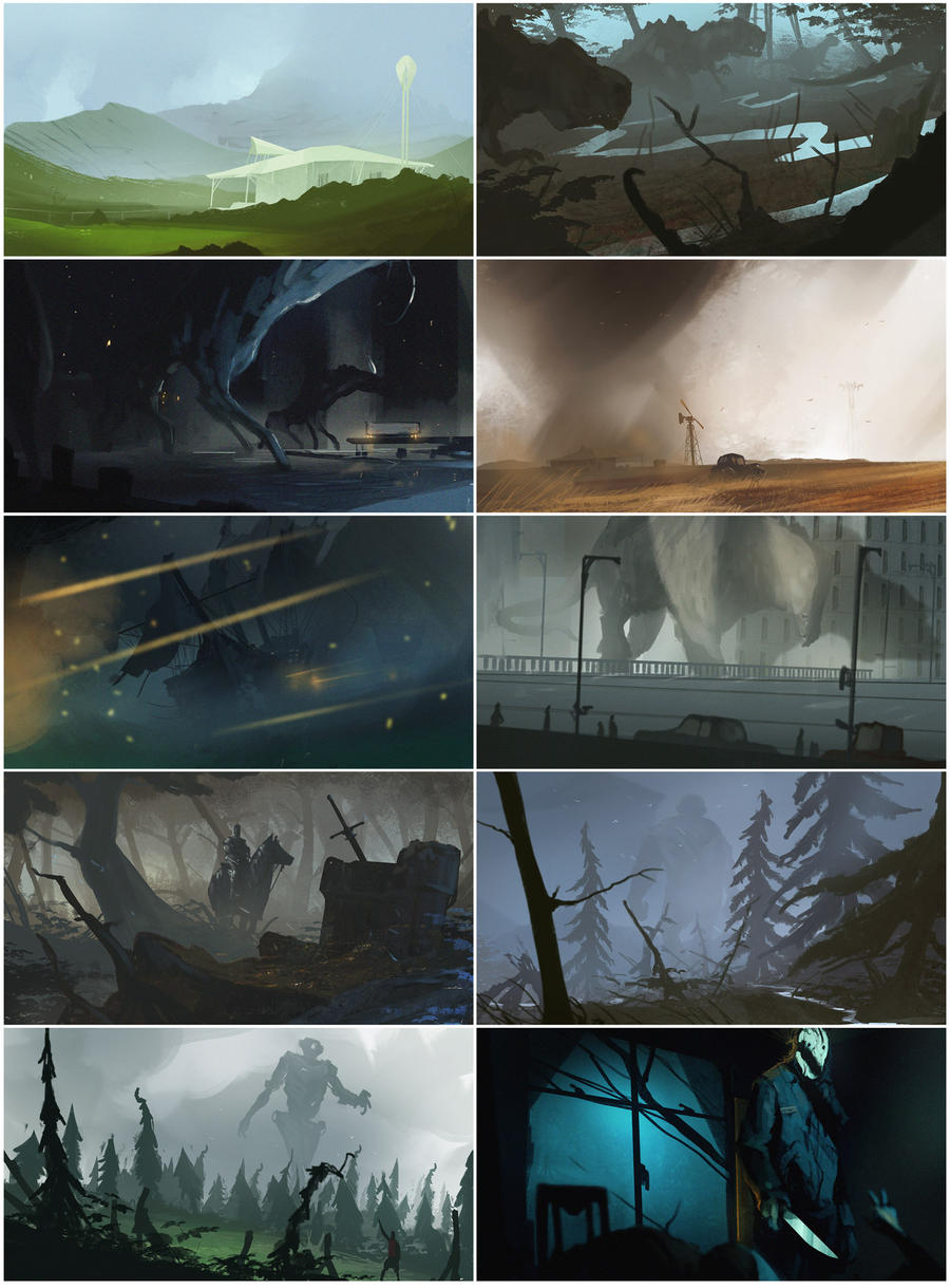 November Speedpaints1 by bradwright