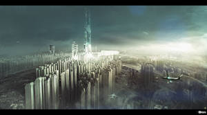 Obsidian Reverie City concept