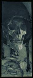 Skull and Helmet Stilllife by bradwright