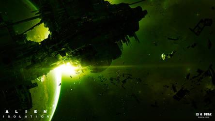 Alien Isolation marketing art