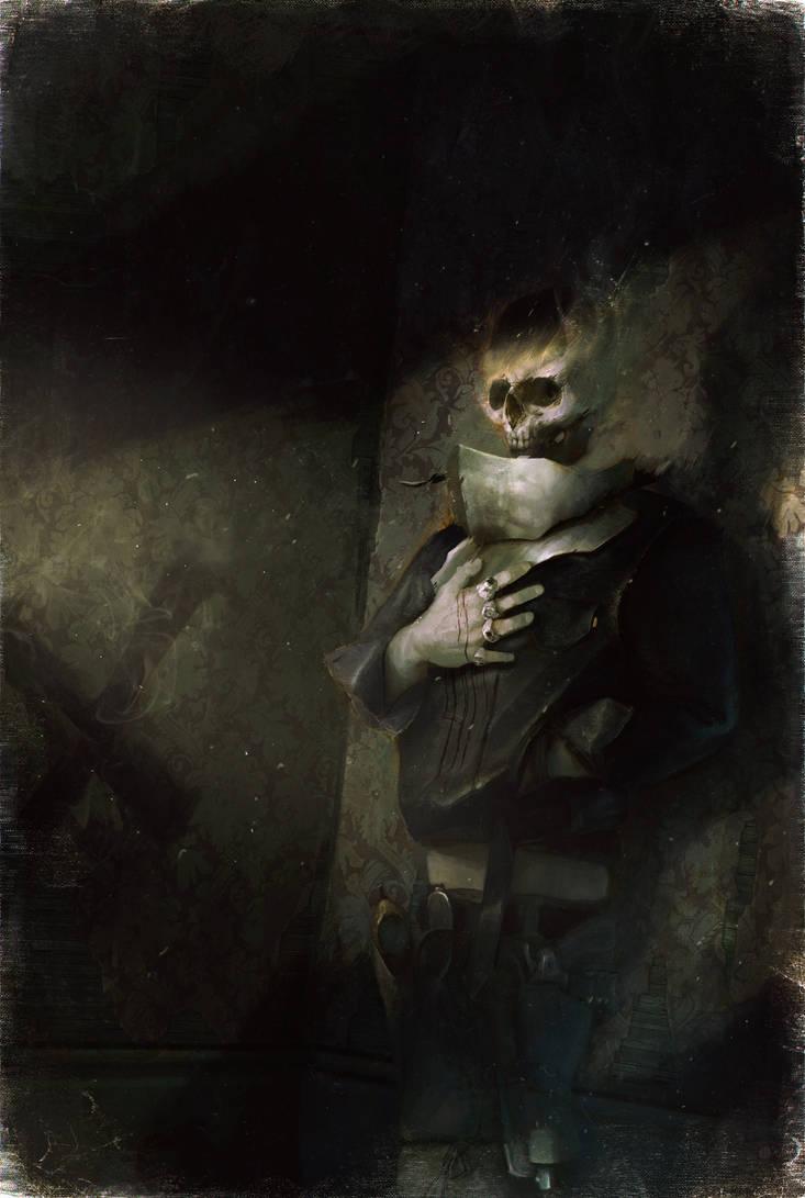 Skull Cowboy Knight by bradwright