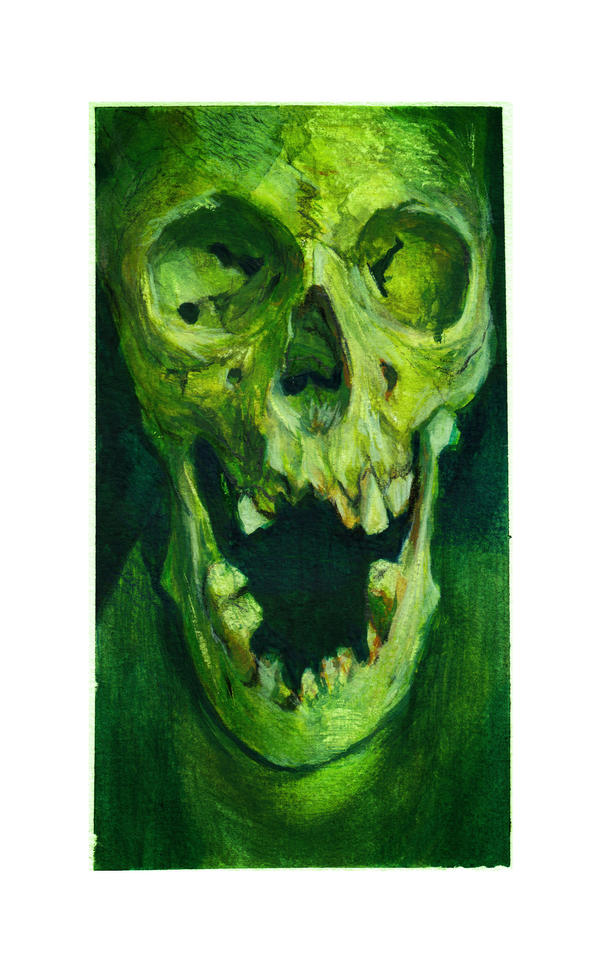 Gouache Skull Study by bradwright