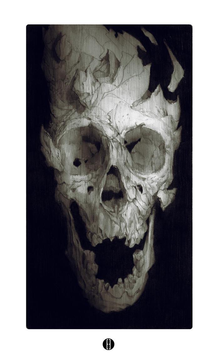 Fragmented skull by bradwright
