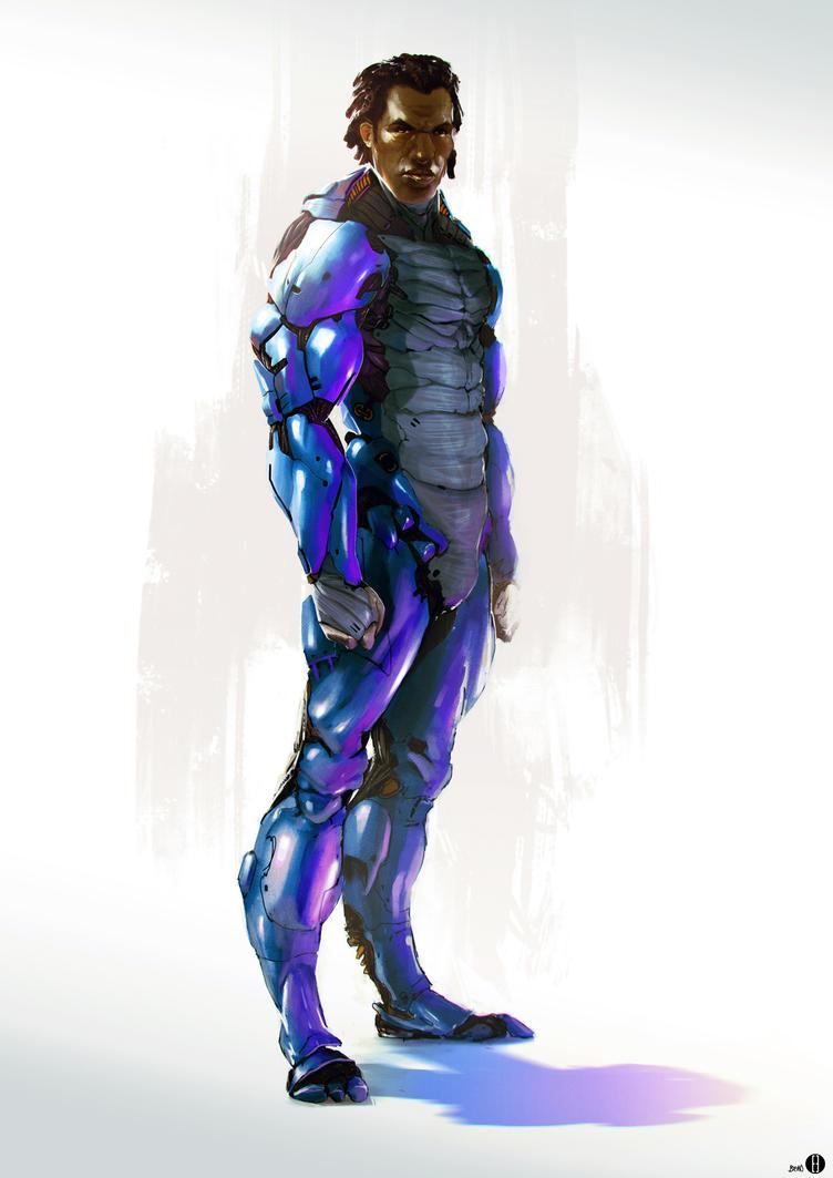 Superhero concept art by bradwright