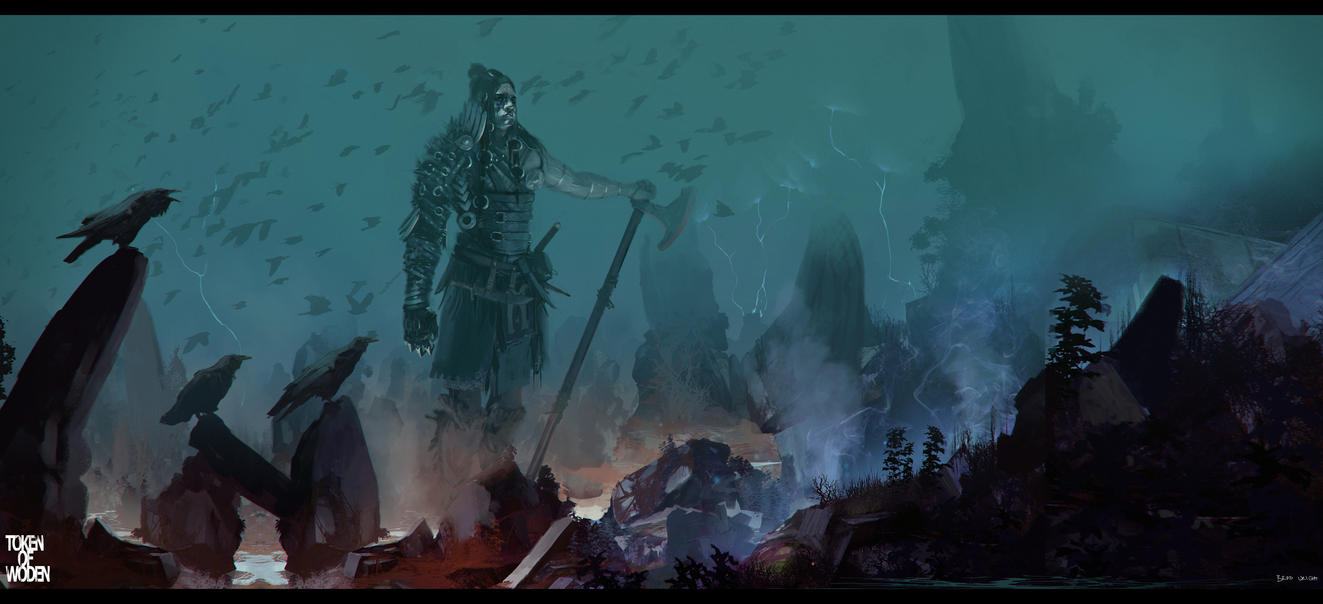 Token of Woden concept 2 by bradwright