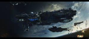 Cruiser in Orbit by bradwright