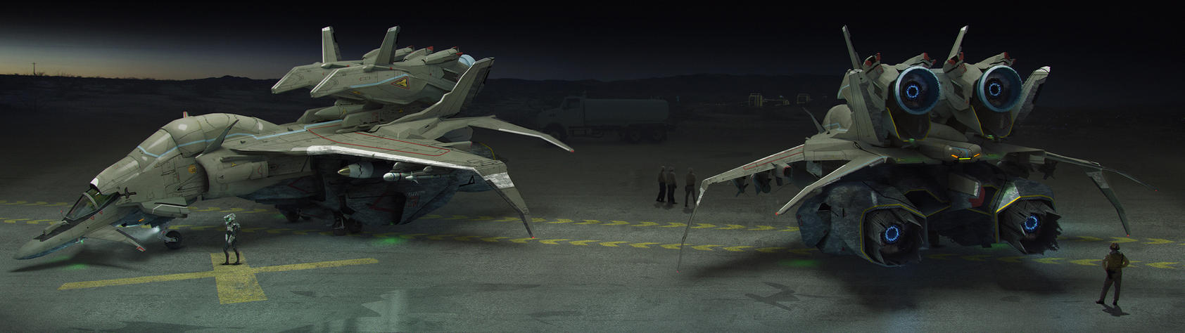 Jet Fighter Concept 01 by bradwright