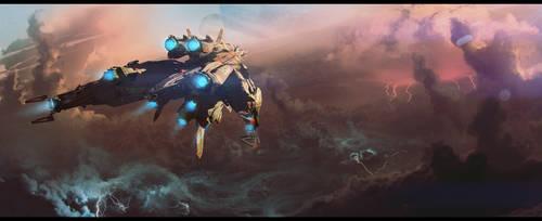 Cloudy Flight by bradwright