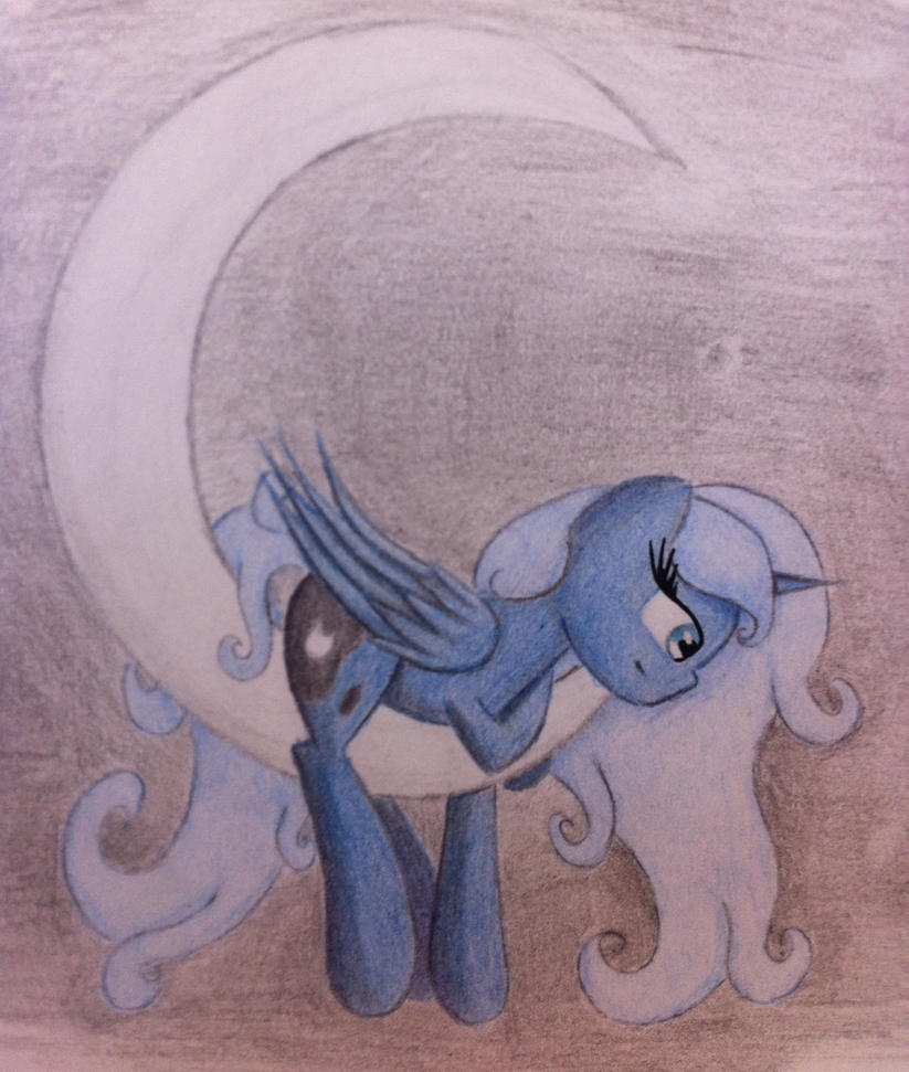 Luna on the Moon by MysticMelodie