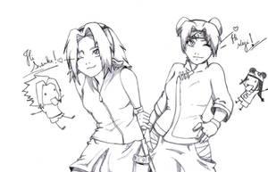 SasuSaku and NejiTen by gabi-s