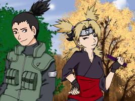 Shikamaru and Temari by gabi-s