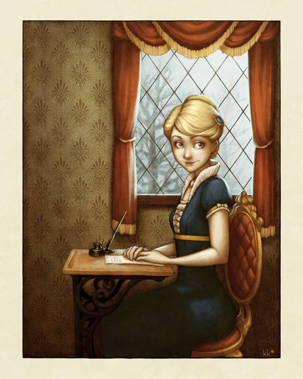 Writing Letters by Kecky