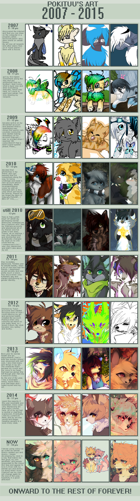 MY ART THRU THE YEARS by pokituu