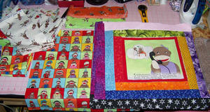 Sock Monkey quilt WIPping