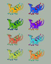 Sun Drake Test Colors by TwistTail
