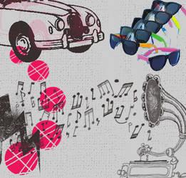 texture retro music by Javodesing