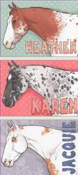 ACEO Name Tags, Set 3 by LesliKathman