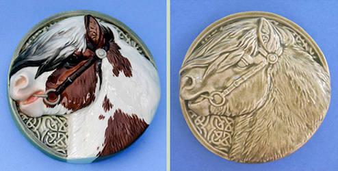 Celtic Pony Medallions by LesliKathman