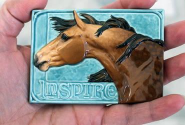Inspire, ATC in ceramic by LesliKathman
